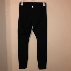 Lululemon Black Wunder Under Leggings 25""
